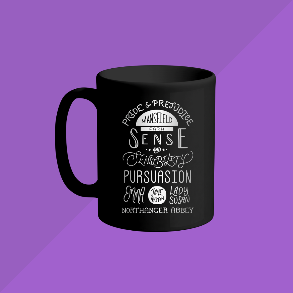 "Mug mockup featuring the ""By a Lady"" design."