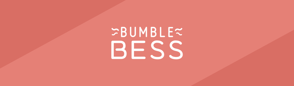 BumbleBess logo on a red background